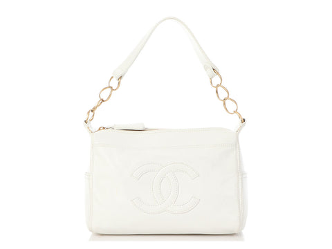 Chanel White Caviar Shoulder Bag