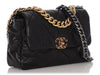 Chanel Large Black Quilted Goatskin 19 Flap