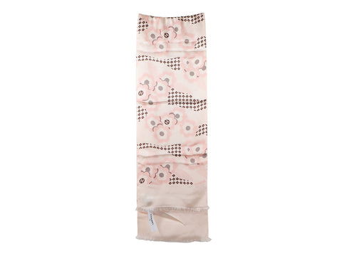 Chanel Light Pink Floral Silk Stole