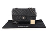 Chanel Maxi Black Quilted Soft Caviar Classic Single Flap