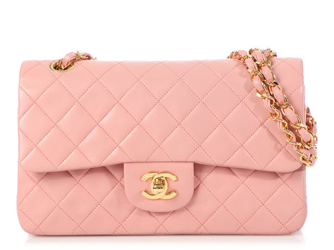 Chanel Vintage Small Pink Classic Double Flap