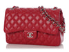Chanel Jumbo 18B Red Quilted Caviar Classic Double Flap