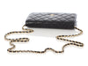 Chanel Black Quilted Caviar Timeless Wallet on a Chain WOC