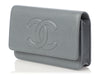 Chanel Gray Caviar Timeless Wallet on a Chain WOC