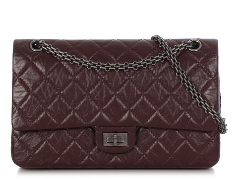 Chanel Dark Brown Quilted Distressed Aged Calfskin Reissue 226