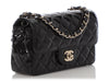 Chanel Mini Black Quilted Patent Classic Flap