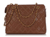 Chanel Vintage Brown Quilted Caviar Shoulder Bag