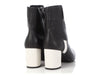 Chanel Black and White Short Boots