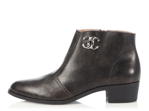 Chanel Dark Gold Booties