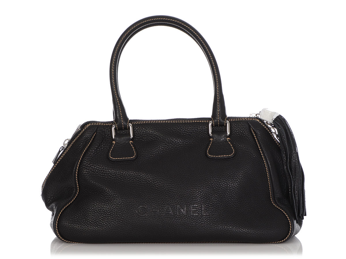 Chanel Large Black Caviar LAX Duffle