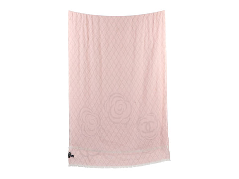 Chanel Pink Camellia Stole