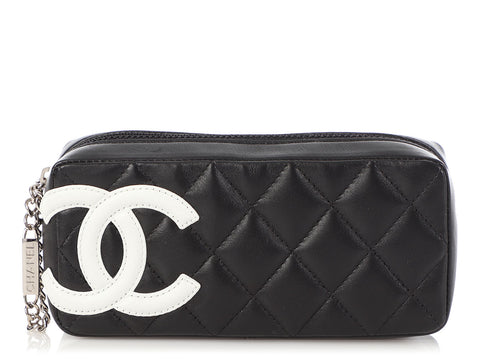 Chanel Black Quilted Soft Calfskin Cambon Ligne Case