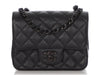 Chanel Mini So Black Quilted Crumpled Calfskin Classic Flap
