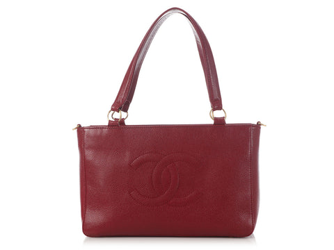 Chanel Red Caviar Tote