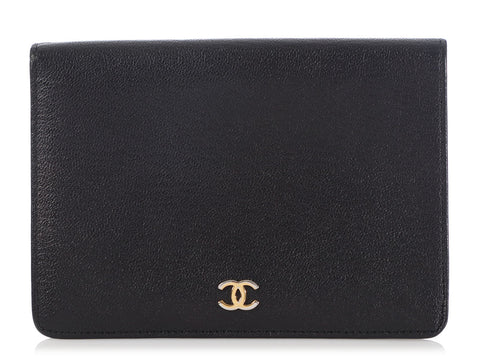 Chanel Vintage Black Calfskin Wallet