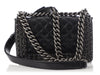 Chanel Small Black Quilted Shiny Calfskin Chain-Embellished Boy Bag