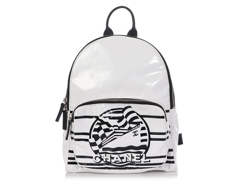 Chanel White Vinyl La Pausa Bay Backpack