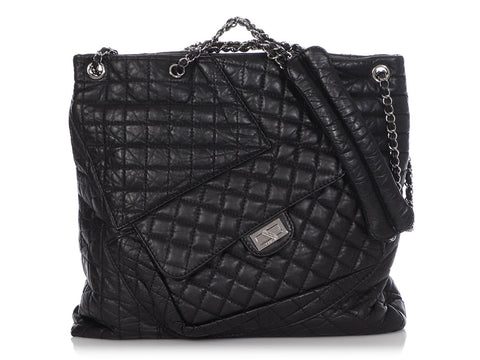 Chanel Black Calfskin Reissue Multi Pocket Tote