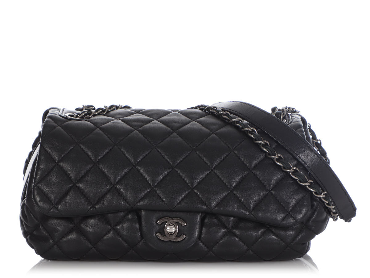 Chanel Black Quilted Lambskin Flap