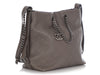 Chanel Gray Quilted Calfskin Hobo