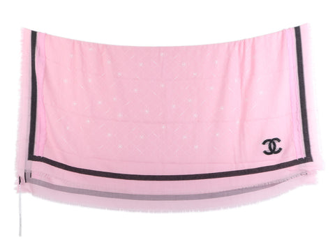Chanel Light Pink Square Scarf