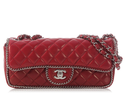 Chanel Dark Red Chain Flap