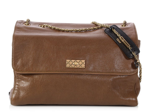 Chloé Brown Leather Flap