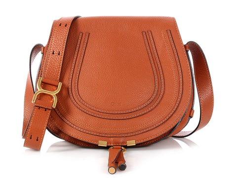 Chloé Medium Tan Marcie Crossbody Bag