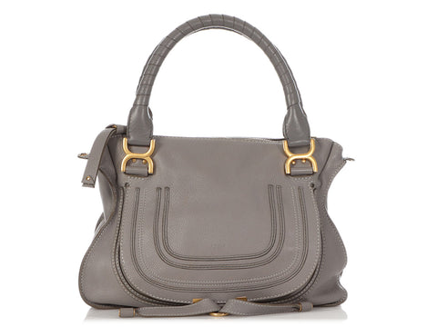 Chloé Medium Gray Marcie Satchel