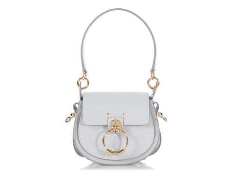Chloé Small Light Cloud Shiny and Suede Calfskin Tess