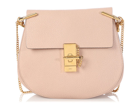 Chloé Small Cement Pink Drew Shoulder Bag
