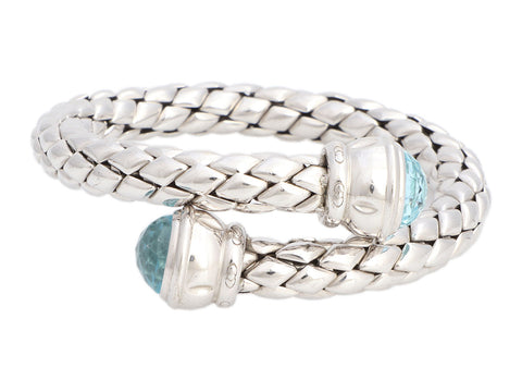 Chimento Sterling Silver Blue Topaz Flexible Bracelet
