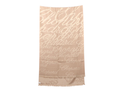 Chopard Beige and Gold Cashmere Silk Stole