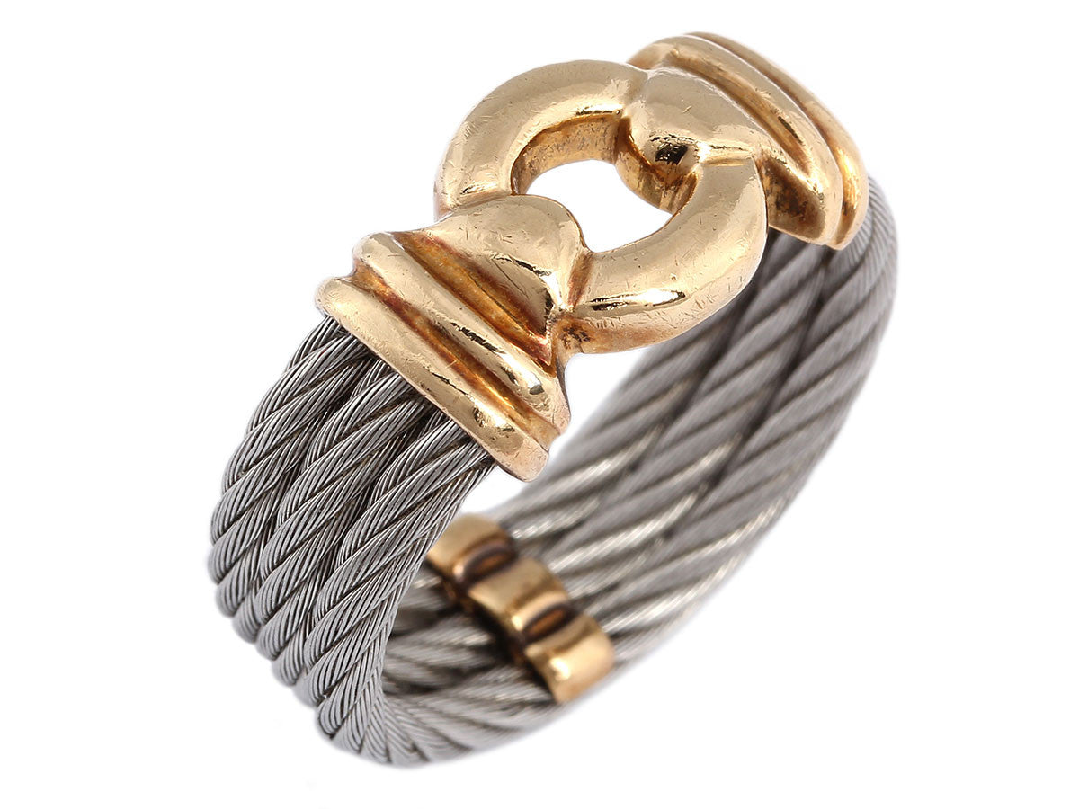Charriol Men's Nautical Cable Ring