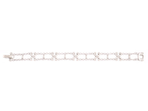 Charriol 18K White Gold and Diamond Bracelet