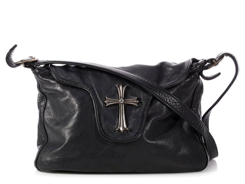 Chrome Hearts Black Sterling Cross Bag
