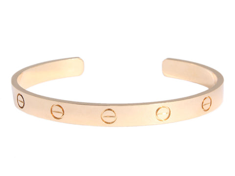 Cartier 18K Yellow Love Cuff
