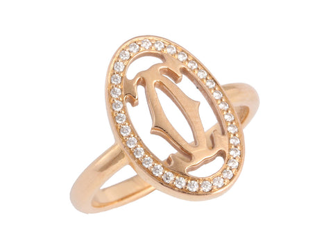Cartier Diamond Double C Ring
