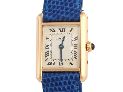Cartier 18K Yellow Gold Tank Watch