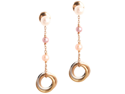 Cartier Trinity Pearl Earrings