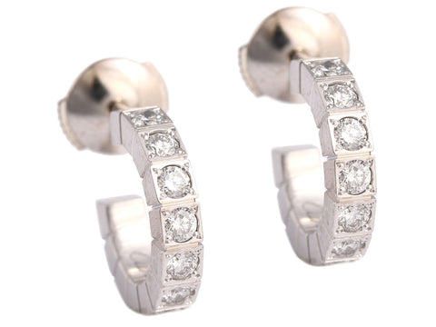 Cartier Diamond Hoop Earrings