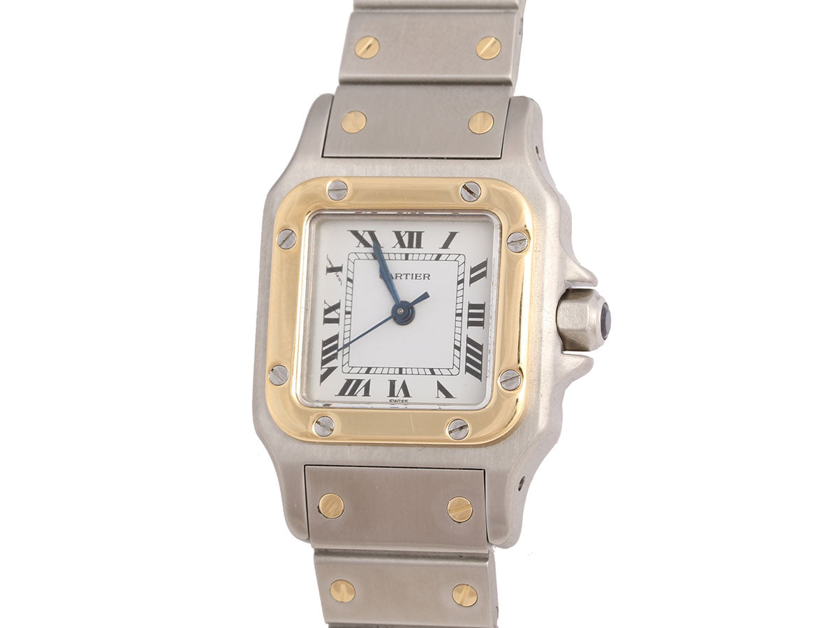 Cartier Two-Tone Ladies Santos Watch