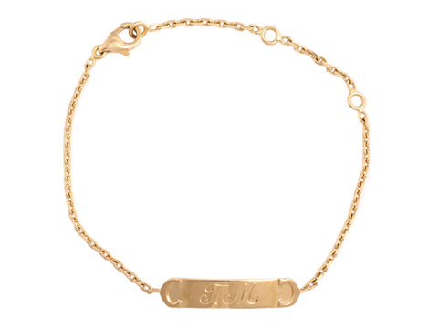 Cartier 18K Gold Double C ID Bar Chain Bracelet
