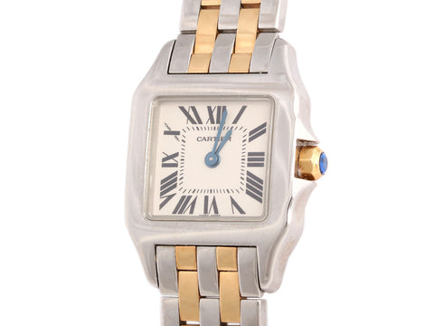 Cartier Two-Tone Santos Demoiselle Watch 20mm