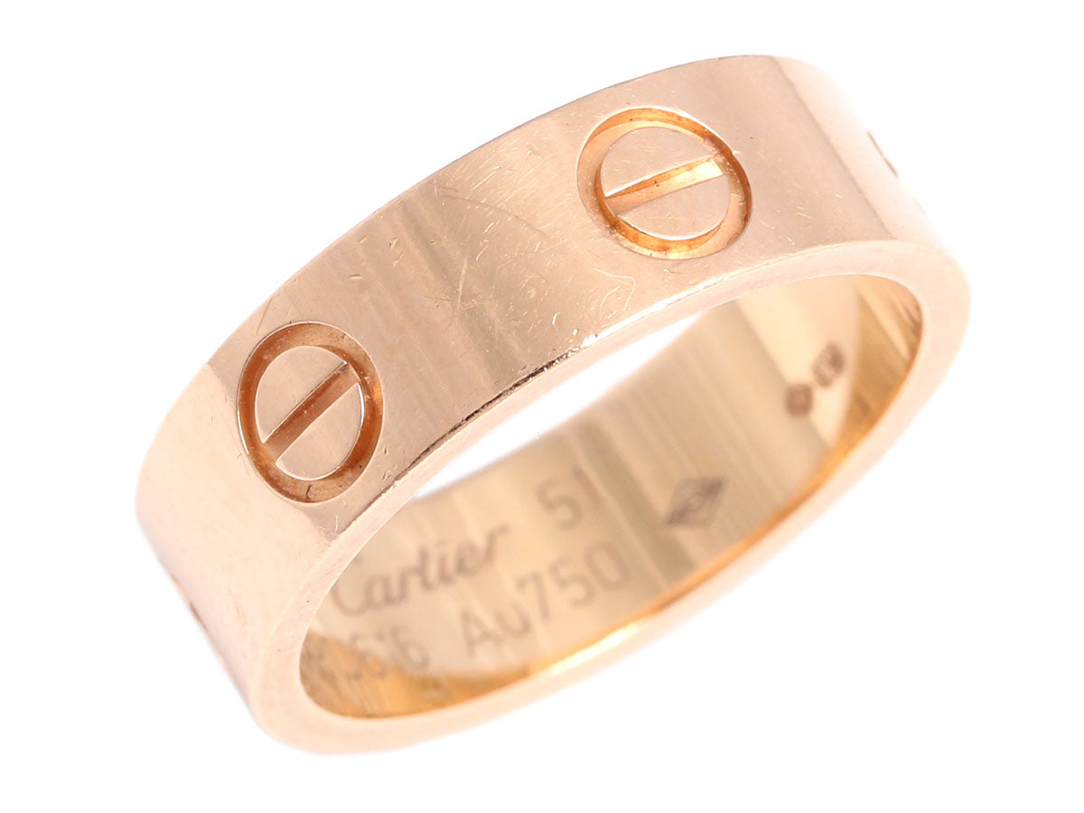 Cartier 18K Rose Gold Love Ring