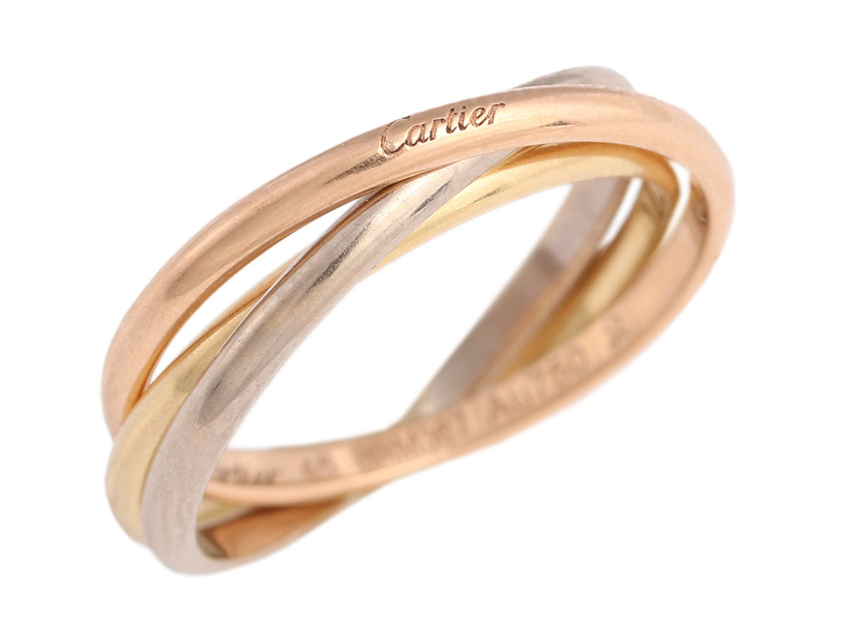 Cartier XS 18K Gold Tricolor Trinity Ring