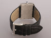 Cartier Stainless and Black Leather Tank Divan Watch