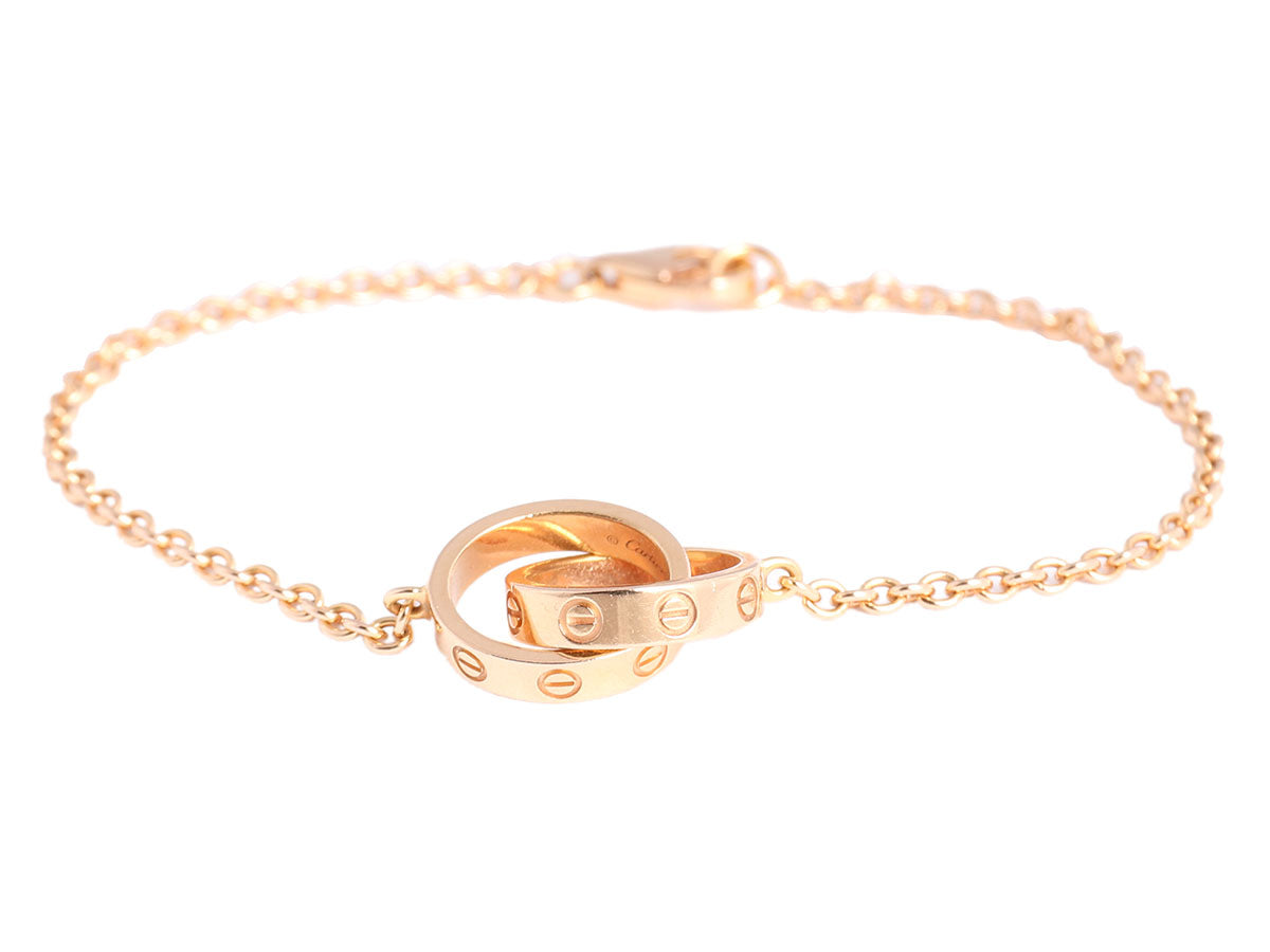8ca6f86c7 Cartier 18K Rose Gold Chain Love Bracelet