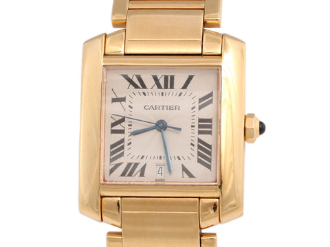 Cartier 18K Tank Française Watch