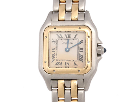 Cartier Two-Tone Ladies Panthère Watch 22mm